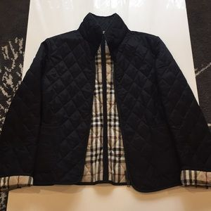 Burberry London quilted black jacket. Size XS